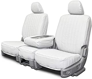 Custom Fit Seat Covers for Jeep Wrangler Low Back Seats - White Vinyl Fabric