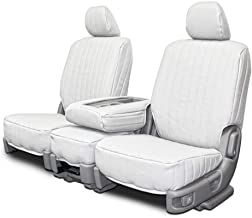 Custom Fit Seat Covers for Mercedes 500SL-600SL Front Low Back Seats - White Vinyl Fabric