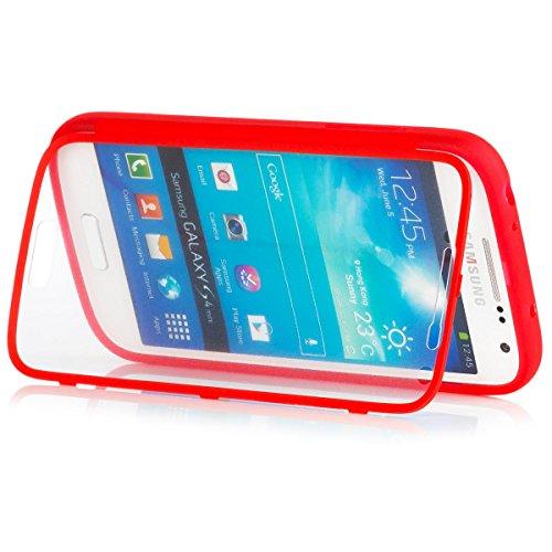 Samsung Galaxy S4 MINI | iCues táctil TPU Rojo | Caso duro...