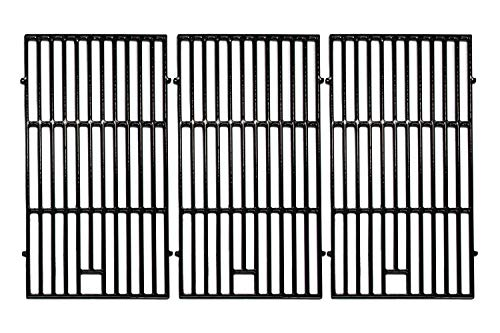Hongso 19 1/4 inch Porcelain Coated Cast Iron Grill Grates Replacement for Brinkmann 810-8502-S, 810-8501-S, Charmglow 720-0234, Jenn-Air 720-0337, 5 Burner Ducane Stainless Gas Grill, PCE223