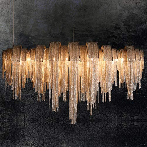 Moderna del cordón LED Lámparas colgantes o de la cadena del aluminio LED de luces de iluminación pendiente accesorios de acero inoxidable cuerpo de la lámpara decoración del hogar, blanco cálido, L13