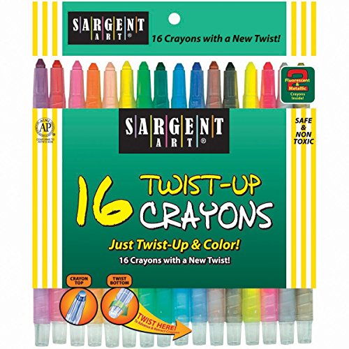 Sargent Art Twist Up Crayons Pack of 16