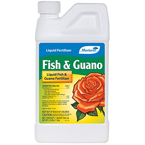 Monterey LG 7265 Fish & Guano Liquid Plant Fertilizer for Transplants and Flowers, 32 oz