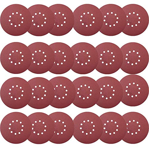 Tonmp 50 PCS 9-Inch 10-Hole Hook-and-Loop Sanding Discs For Drywall Sander -10 Pack Each of 60 80 120 150 240 Grits Sander Paper