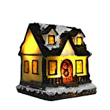Zark99 LED Santa's Wonderland House Christmas Snowy Village Animated Winter House Scenes