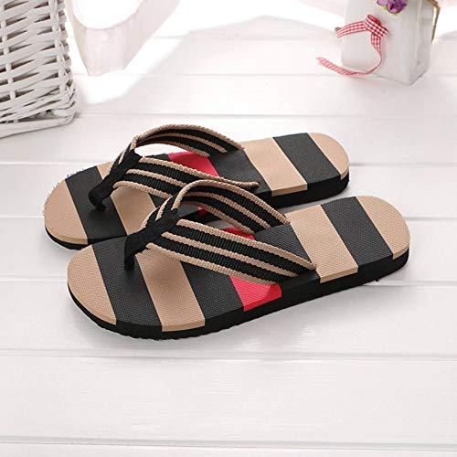 Zapatillas NTS, Sandalias de Verano para Hombre, Sandalias con Bloques de Color, Zapatillas para Hombre, Sandalias de Cuero Trenzado de Nailon con Suela de Goma