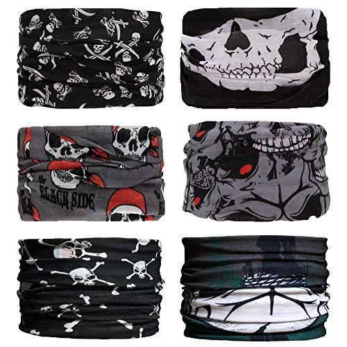 Sea Team 6 Stück/Packung gedruckt Bandanas Multifunktionstuch, 12 Arten Wahl Kopftuch, Stirnband, Motorrad Bandana, Kopftuch ect (D-13)