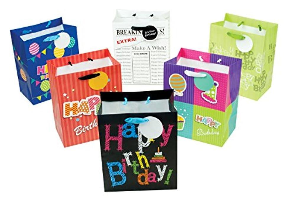 12 Piece Small Designer Birthday Gift Bags, 9.5