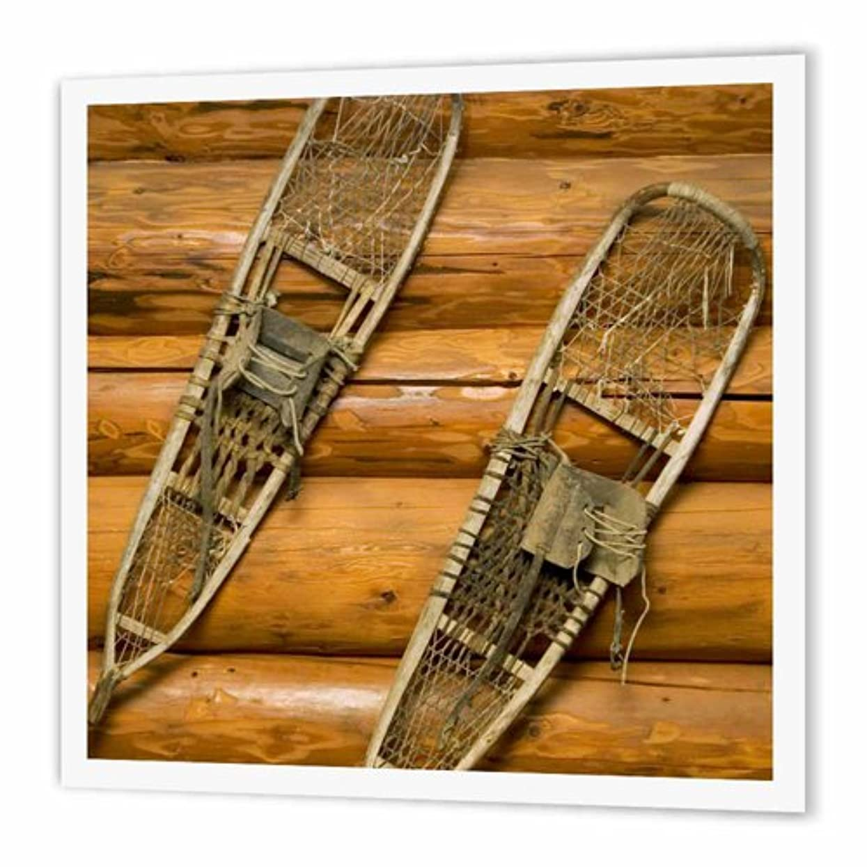 3dRose Old Snow Shoes, Winter, British Columbia-CN02 Pcl0304 - Paul Colangelo - Iron on Heat Transfer, 10 by 10-Inch, for White Material (ht_76334_3) a55105085375657