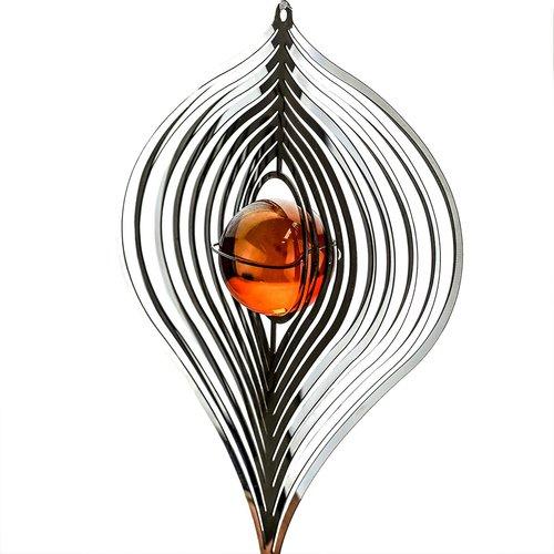 3D Windspiel Bernstein mit Kugelspirale - 2