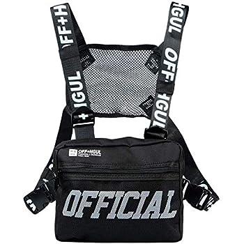 abcGoodefg Tactical Chest Rig Radio Shoulder Holster Holder Pack Walkie Talkie Harness Hip Hop Backpack Chest Rig Vest Harness Black