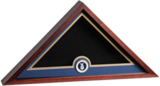 Allied Frame US Air Force Interment American Burial Flag Display Case with Official Air Force Medallion