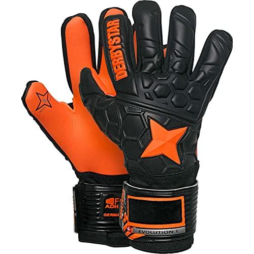 Derbystar Evolution I Handschuhe Unisex, schwarz orange, 9.5