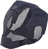 XYLUCKY Airsoft máscara de la mascarilla Completa Acoplamiento de Acero Ajustable Airsoft Casco Paintball