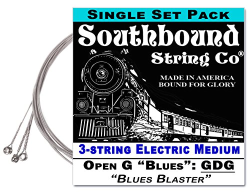 Electric Medium 'Blues Blaster' 3-String Cigar Box Guitar Strings - Low Open G - GDG