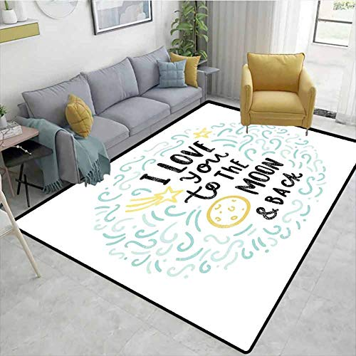 Buy Bargain Bigdatastore I Love You Large Size Area Rug Indoor, Cartoon Style Dreams Children Siblin...