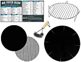 Air Fryer Rack Accessories Compatible with Power XL, Chefman, Black and Decker and More  Set of 7 with Heat Resistant Mat for Airfryer and Magnetic Cheat Sheets
