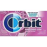 ORBIT Bubblemint Sugarfree Gum Single Pack, 14 Pieces