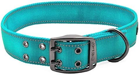 Max and Neo MAX Reflective Metal Buckle Dog Collar We Donate a Collar to a Dog Rescue for Every product image