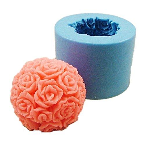 Allforhome moldes de jabón o vela de rosa