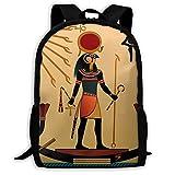 Sun Old Egyptian Timeless Grace Travel Laptop Backpack Business Resistant School Computer Bag