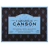 CANSON Aquarellmalerei Canson Erbe Block geklebt 4Seiten 20Blatt Körnung Geschirrtuch Torchon Körnung 31 x 41 cm