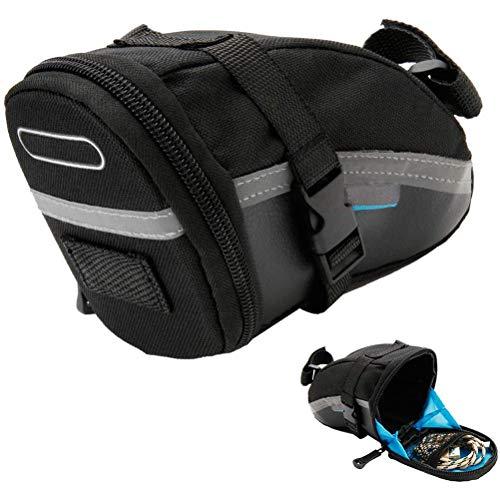 ALBEFY - Bolsa para sillín de bicicleta, 1,2 L, bolsa de almacenamiento...