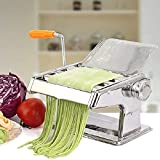 Máquina de Pasta doméstica, pequeña máquina de amasar Manual de Acero Inoxidable multifunción para Fideos, lasaña de Espagueti o Pieles de Bola de Masa B 254 (Color B)