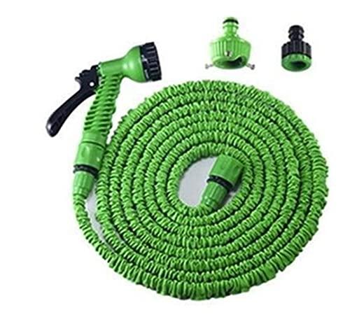 LZZB QXDZSWB 25FT-250FT Tubo da Giardino Tubo Flessibile Flessibile espandibile Tubo Flessibile in plastica con Pistola a spruzzo Irrigazione Spray per autolavaggio (Color : Green, Size : 25FT)