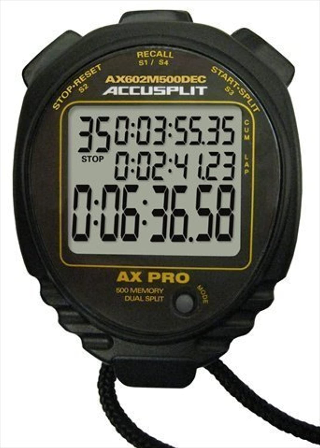 Accusplit Multi-Mode 500 Memory Advanced Timing Stopwatch by by by Accusplit B018RPUEJ6  Feinbearbeitung 93e037