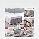 BED WRAP Crushed Velvet Divan Bed Base COVER Alternative to Valance Sheet Skirt Elasticated Easy To Fit - Wraps Itself Around The Base Of Your Bed (Silver Grey, 4ft 6' Standard Double)