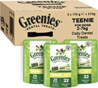For your four-legged friend: Chewing snack for miniature dog breeds / Unique chewy texture that helps reduce plaque and tartar build up / Easily digestible treat for fresh breath and oral hygiene GREENIES Dental Treats are developed with veterinarian...