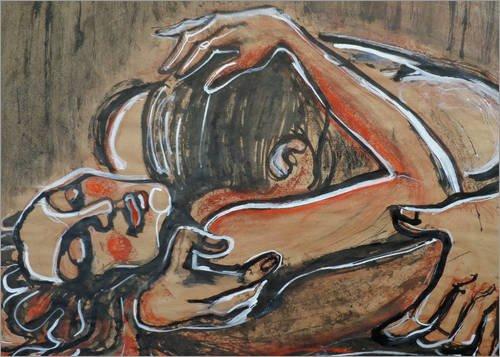 Posterlounge Alubild 70 x 50 cm: Liebhaber - Apassionata von Carmen Tyrrell