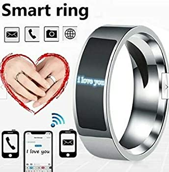 Preciashopping Smart Finger Digital Ring Wear for Android/Phone Equipment Rings Fashion  Size 6