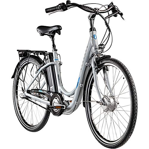 "E Damenrad 26\"" E-Bike Pedelec Zündapp Green 2.7 Citybike Elektrofahrrad Fahrrad (grau, 46 cm)"