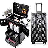 CPTTKI KosmetiktascheFrauen Kosmetiktasche, Rollgepäcktasche, Nails Makeup Toolbox, Kommode Multi-Layer Beauty Tattoo Trolley Koffer