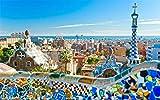 Pintar por Numeros DIY Acrílica Pintura Kit para Adultos y Niños Principiantes con 3 Pinceles y Colores - Hermoso paisaje de la ciudad de la ciudad de Barcelona - Decoración hogareña 16 * 20 Pulgadas