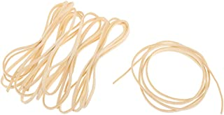 Baosity 5Pcs 1.1yd Soft Leather Cord Suede Rope Braiding String Lacing Craft Jewelry - Beige
