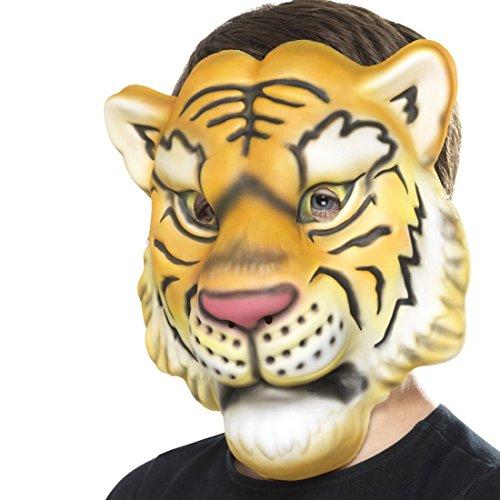 Amakando Mascherina Tigre | Maschera da Tigre per Bambini | Maschera Leone | Trucco d'animale