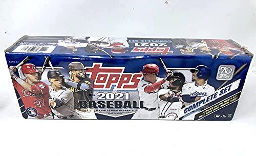 Topps 2021 Baseball Factory Sealed Complete Retail Box (660 Cards 5 Rookie Variations)