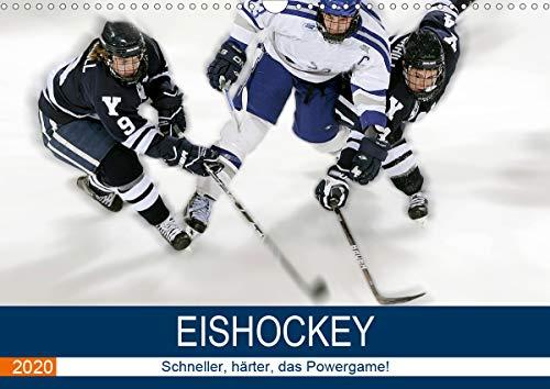 Eishockey! Schneller, härter, das Powergame! (Wandkalender 2020 DIN A3 quer)