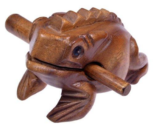 Logoplay Holzspiele Klangfrosch Gr. 4 - Klang Frosch - Klangtier - Musik Frosch - Musik-/Percussion-Instrument aus Holz