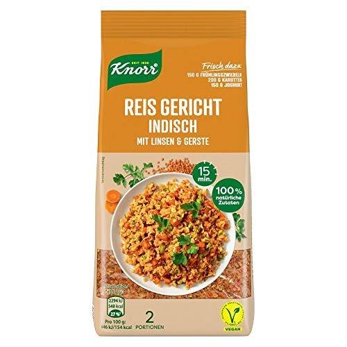 Knorr Reis Gericht für die schnelle Zubereitung Indisch (aus 100% natürlichen Zutaten) 6er Pack ( 6 x 150 g)