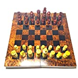 Wanaka - Juego de ajedrez de madera de lujo – Capaz plegable...