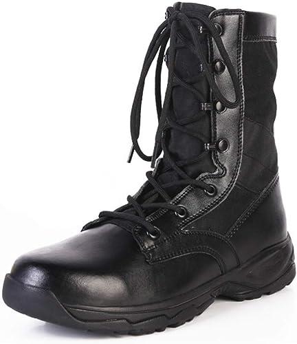 YongBe bottes démarrage Hommes Bottes de Formation pour Commandos Militaires Trekking Randonnée armée Combat en Plein air Police Homme Chaussures Montantes à Lacets