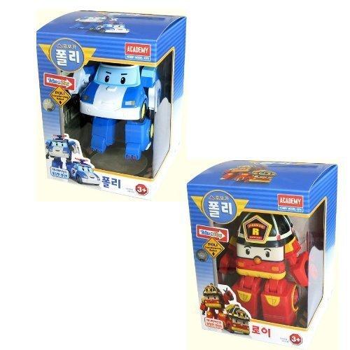 Robocar Poli + Robocar Roy (2 Transformable Robot toys)