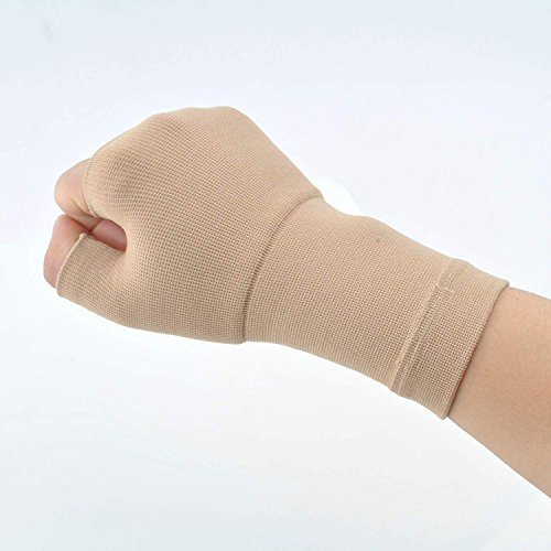 xiaoru 手首サポーター 手首 手首の固定 腱鞘炎 捻挫 手根管症候群 保護 男女兼用 2個 セット 野球、テニス、剣道、バスケットボールなどが好きなお客様に (M, クリーム)