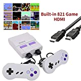 821 Retro Game Console,Classic Mini Game System with Preloaded NES Games and 2 NES Classic Controllers,HDMI HD Output Plug & Play NES Mini Console,Old School Games Console for Kids and Adults