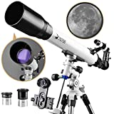 DoubleSun Telescope with Equatorial Mount-Refractor Scope 70mm...