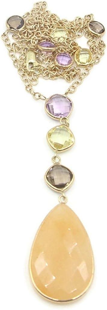 Sophia Fine Jewelry Sliced Sapphire,Amethyst & Smoky Topaz 27